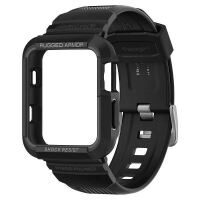 Husa Apple Watch Series 3/2/1 - 42 mm Spigen Rugged Armor - Negru